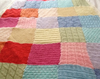 Patchwork Baby Blanket Knitting Pattern, PDF, Instant Download, 11 patterns!