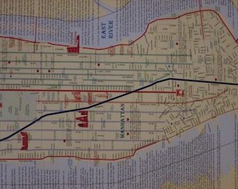 New York Poster-map with the addresses of writers and  city literary haunts.