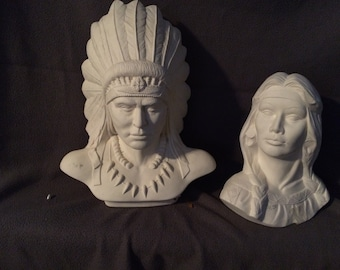 Indian Chief with Maiden
