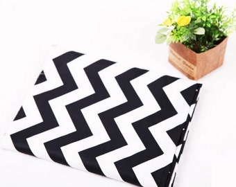 "Twill Cotton Fabric 1"" (2.5 cm) Chevron By The Yard"