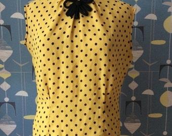 50s blouse dots