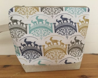 Billy Goat Gruff Zippered Knitting Project Bag