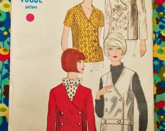"""Vogue Sewing Pattern - 1966 - Woman's Semi-fitted jacket - Size 18  bust 38"""" - Mpn 6704 - Unused and factory folded"""