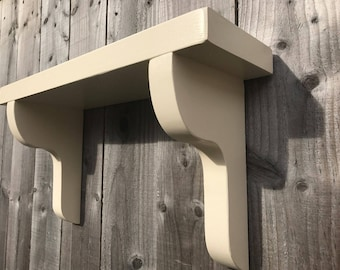Chunky Wooden Farrow And Ball Painted Shelf
