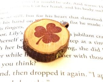 Chestnut Wood Slice Pendant - Medium
