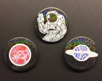 Space themed badges