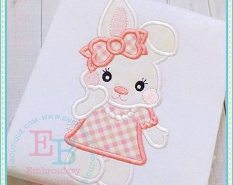 Sweet Easter Bunny Girl Embroidered and Personalized