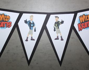 """PBS Wild Kratts """"HAPPY BIRTHDAY"""" Banner"""