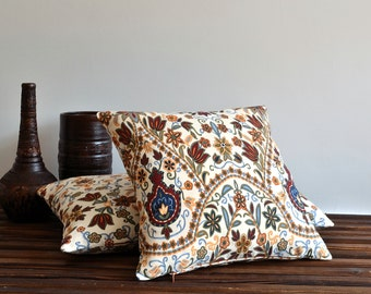 Decorative Floral Pillow Cover - Decorative Pillows, Accent Pillows, Throw Pillow Covers