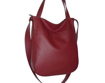 claret leather crossbody bag, maroon leather crossbody bag, maroon bag, vegan crossbody bag, faux leather bags, leather crossbody bag, 5514