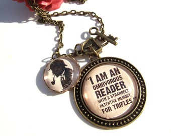 Sherlock Necklace- Sherlock Holmes Necklace- Literary Quote- Literary Gift- Book Lover Gift- Reader Gift- Quote Jewellery- Literary Lover
