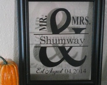 Mr. And Mrs. Frames Customized