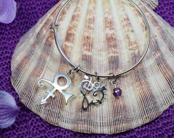 Commemorative Prince Bracelet-Prince Tribute Bracelet-Expandable Bracelet