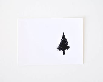 Simple Tree Art Print - Black and White Minimalist Drawing - One Tree Left in the Forest