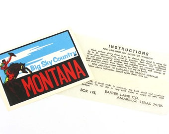 Vintage Montana Travel Decal
