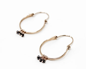 Alexandra Collection: Blaire Hoop Earrings