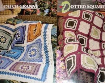 PATTERNS Dotted Squares PLUS 9 Patch Granny Afghans