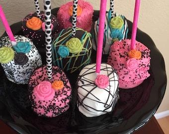 Famous Designer Jumbo Chocolate Marshmallows(1 Doz)/Birthday Parties/ Kate Spade/Bridal Showers/Girl's Birthday/Chocolate Marshmallows