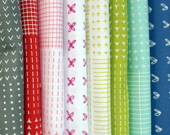 Blueberry Park Sampler Fat Quarter Fabric Bundle of 8