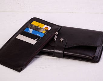 Women's Leather Wallet.Handmade leather Wallet.Leather Wallet women.Women's Handmade Leather Wallet.Leather clutch. (221)