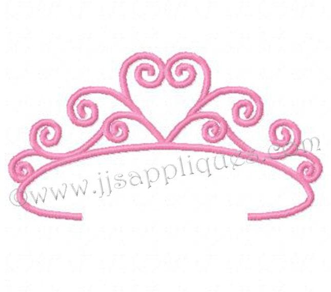 Princess Tiara Embroidery Designs Tiara Set Of 10 Designs