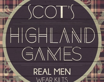 Custom Highland Games Sign Digital Download