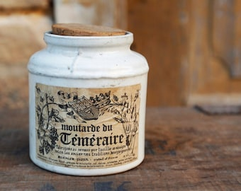 Old pot mustard Temaraire - Made in France - Vintage.