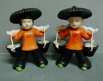 Vintage Hand Painted Betsons Japan Asian Figurines