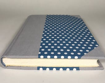 Half Bound Journal with Fabric and Paper Hard Covers