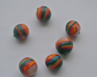 set five bead polymer clay