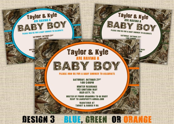 Camo baby shower invitation hunting camouflage boy redneck like this item filmwisefo Gallery