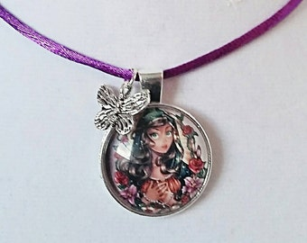Princess Necklace Princess Jewelry Fairytale Necklace Fairytale Jewelry Children Necklace Princess Pendant Unique Gift For Her Fairy Jewelry
