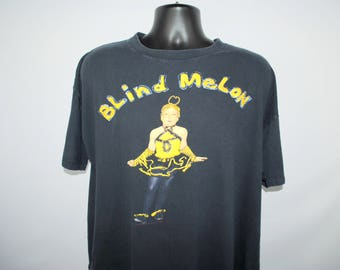 1992 Blind Melon Crammed In A Van Tour Vintage 90's Neo Psychedelic Alternative Rock Grunge Band Classic No Rain Bee Girl Concert T-Shirt