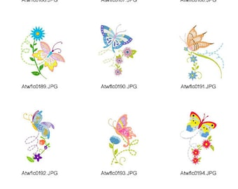 Butterflies ( 10 Machine Embroidery Designs from ATW )