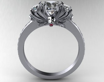 Ruby Lion Engagement Ring