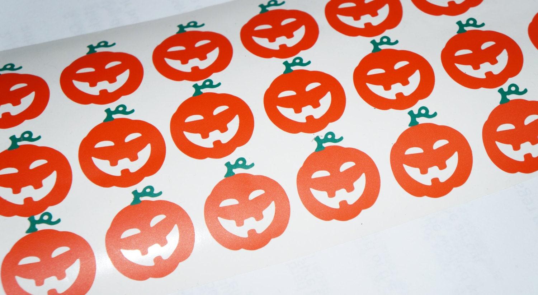32 Pumpkin Stickers, Halloween Pumpkin Decals, Thanksgiving Stickers ...