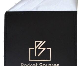 Pre Folded Pocket Square Silk Satin...Rio Collection