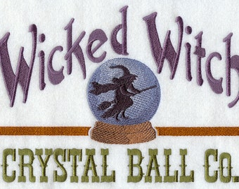 WICKED WITCH CRYSTAL Ball - Machine Embroidered Quilt Blocks (AzEB)