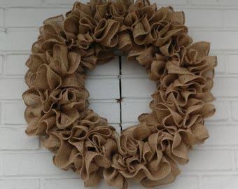 Rustic Ruffle Burlap Wreath