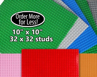 "For LEGO® Bricks - Compatible Base plates 10""x10"" 32x32 Studs Baseplates"