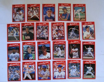 These 23 (ex cond) MAJOR LEAGUE Baseball cards  All are 1990 series cards by DONRUSS.  see description
