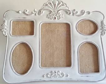 White Shabby Chic Distressed Picture Frame