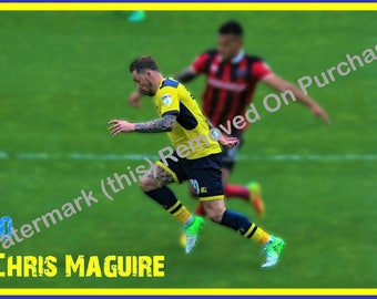Oxford United Chris Maguire Poster