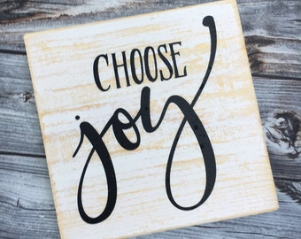 READY TO SHIP | Choose joy | wood sign | home decor | hand painted | wall gallery | wall art | distressed sign | mantel decor | Style# HM170