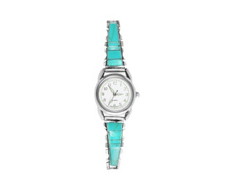 Ladies Inlay Turquoise Watch - Steve Francisco