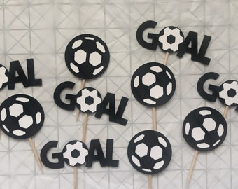 Soccer Cupcake Toppers • Set of 10