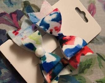 Rainbow Splatter Bow set