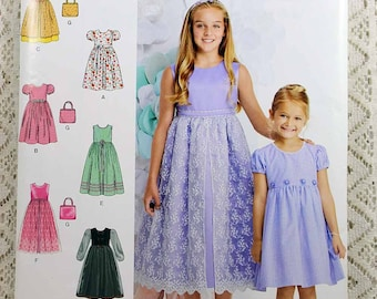 Simplicity S0164, Same as Simplicity 1184, Child's Dress Sewing Pattern, Party Dress Pattern, Child's Sizes 3 to 6, Uncut