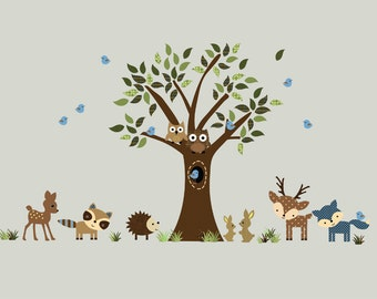 Forest FABRIC WALL DECAL Reusable - 716