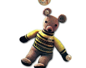 PDF Vintage Teddy the Bear Toy Pattren - Instant Download - PrettyPatternsPlease
